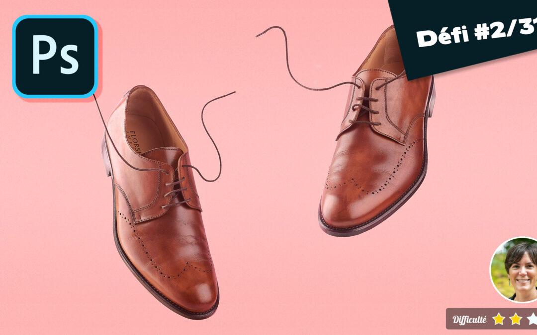 tuto : photographier et retoucher des chaussures en lévitation