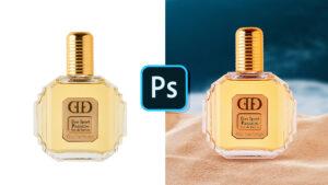 Creer un composite photoshop pour un visuel parfum